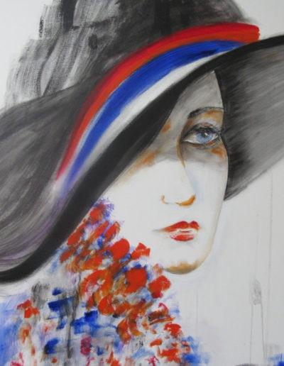 Regina Merta - Dame mit Hut I