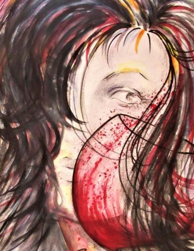 roter Wein - Kohle, Graphit, aqareliertIMG_2007